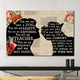 Personalized Westies You Are Not Just A Dog You Are My Best Friend 0.75 & 1,5 Framed Canvas - Custom Names- Home Living- Wall Decor