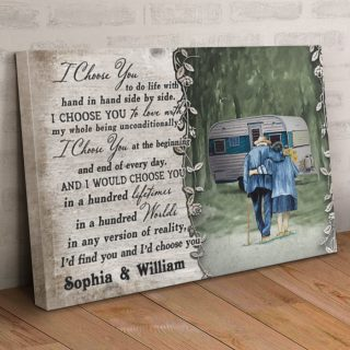 Personalized Camping Husband And Wife I Choose You Canvas, Family Camping Canvas, Couple Gift, Wall Art