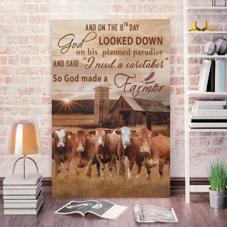 God Made A Farmer Canvas Prints God Canvas God Decor Religious Canvas 0.75 & 1,5 Framed Canvas- Farmer Gifts -Canvas Wall Art -Home Decor