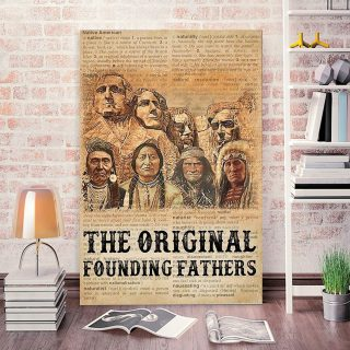 Native American The Original Founding Fathers 0.75 & 1,5 Framed Canvas- Native American Gifts -Canvas Wall Art -Home Decor