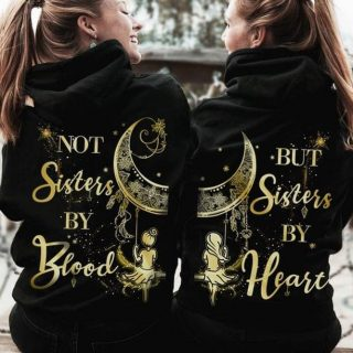 Friendship- Not Sisters By Blood, But Sisters By Heart Shirt, Best Friend Shirt, Gift For Best Friend, Girls Club, Best Gift Idea
