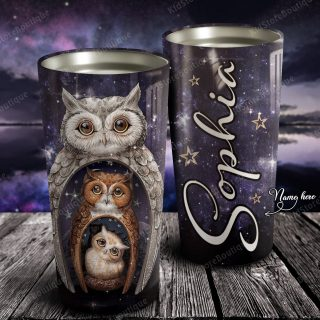 Personalized Happy Owl Family Tumbler - Family Gifts - Best Gift for Owl Lovers - Owl Cup- Travel Mug - Best Idea Gift