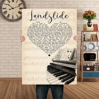 Fleetwood Mac - Landslide Lyric Song 0.75 & 1,5 Framed Canvas - Gifts Ideas - Home Decor - Wall Art